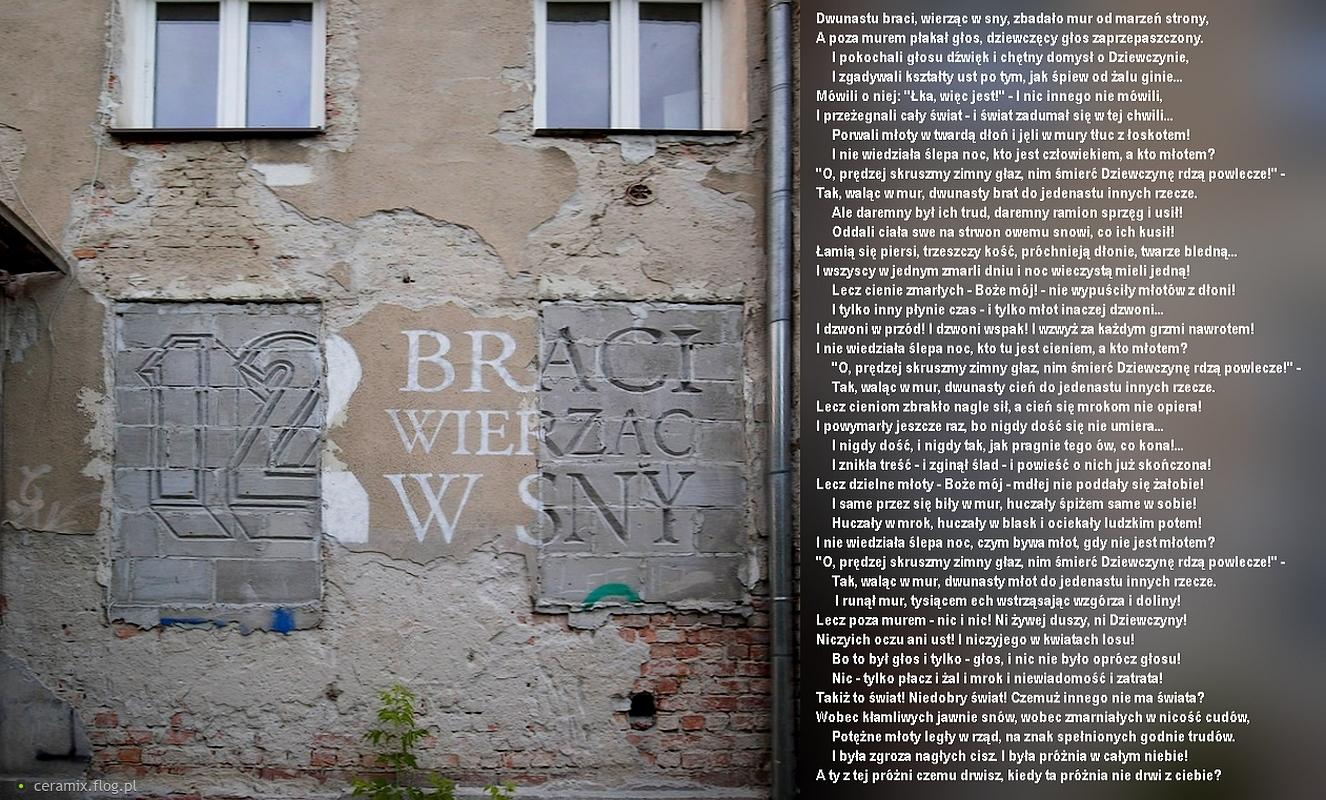 Mural Inspirowany Wierszem Bolesława Leśmiana Pt Dziewczyna